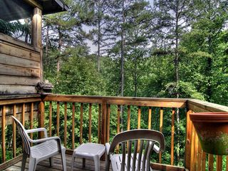 Pigeon Forge cabin photo - Relax on the back Deck with your morning coffee