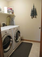 Fraser townhome photo - Full-size front-load washer and dryer