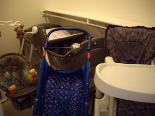 Las Vegas house photo - baby needs/play yard/high chair/swinging chair/stroller