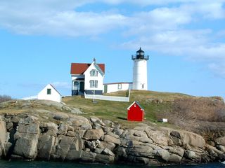 York Beach cottage photo - Nubble Lighthouse in York