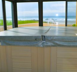 Bandon house photo - Enjoy a breathtaking Pacific Ocean view while basking in the spa