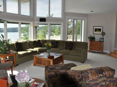 Great room facing north west. Beautiful lake views and slider to north deck.