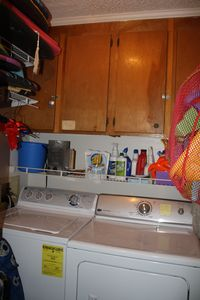Full size private washer and dryer, sand toys, boogie boards, beach chairs, etc.