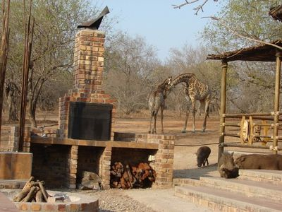 The 'braai' (barbeque) area.
