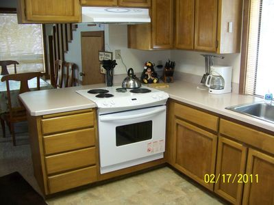 Updated kitchen with new appliances