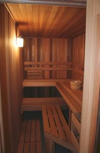 Enjoy the warmth of our Sauna after a long day of Skiing!