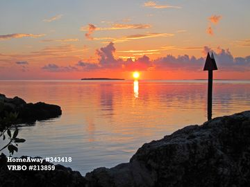 Key Largo condo rental - Sunset from the point near the condo. Another day in paradise!