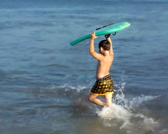 Boogie boards are avilable for your ocean fun