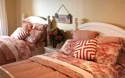 Bedrooms have new mattresses/beds and the finest high end linens and French Door