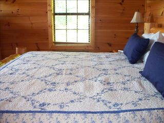 Gatlinburg cabin photo - Two bedrooms with log beds, luxury linens-king size jacizzi suite and queen size