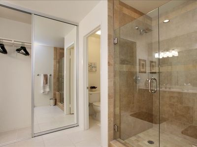 master bath, new step-in shower