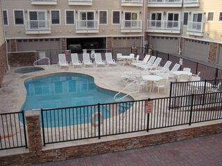 Seaside Heights condo photo - Pool and jacuzzi in private gated courtyard, beautifully maintained.