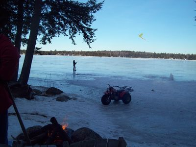 Build a Camp Fire and Enjoy the frozen lake!