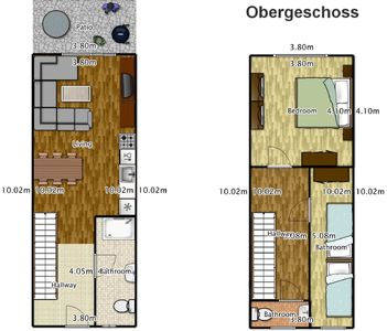 Floor plan apartments 2-5
