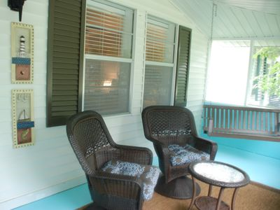 Dauphin Island cottage rental - Welcome to Sandy Hook. Prepare to relax on the nicely appointed screened porch.