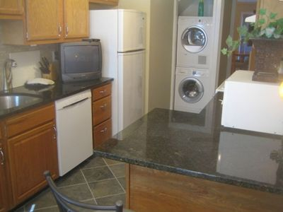 Southwest Waterfront townhome rental - Kitchen and Laundry