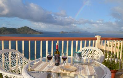 Relax and kick back,have some wine on the deck or have dinner and enjoy the view