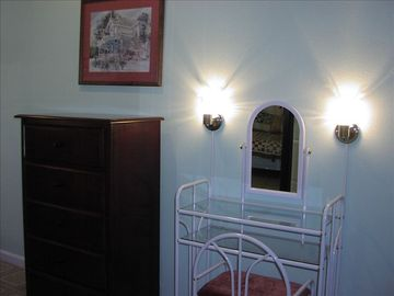 One of 5 vanities spread throughout the house.