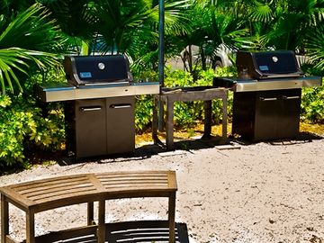 Three BBQ areas (gas grills) located on grounds.