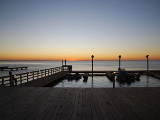South Padre Island condo photo - New Lighted Fishing Pier with Boat Slips