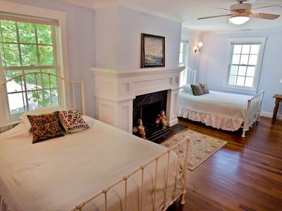 Vineyard Haven house rental - Bedroom Suite #3 - Two Full Beds & Full Bath. Second Floor