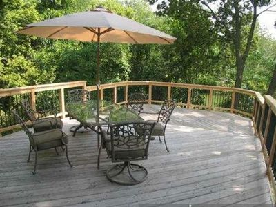 Spacious 16 ft x 27 ft cedar deck