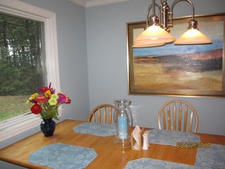 Kitchen dining area- seats 6, newly painted - Wellfleet house vacation rental photo