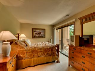 Carnelian Bay townhome photo - Master w/Queen bed and patio balcony