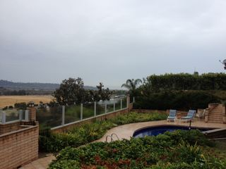 Del Mar house photo - PICTURE OF POOL AREA AND PANORAMIC VIEW OF POLO FIELD AND SURROUNDING HILLS