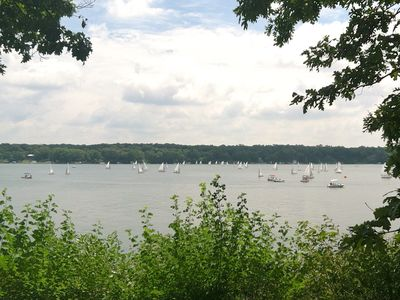 From our porch you can watch a beautiful sailing regatta!