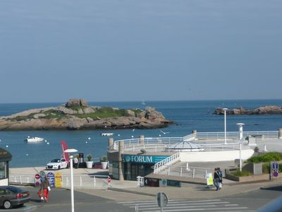 Sea view apartment for 2 people in Tregastel-beaches