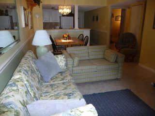 St. Augustine Beach condo photo - Lovely living area with pull out loveseat