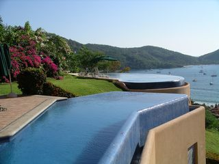 Zihuatanejo condo photo - Two beautiful Infinity Pools