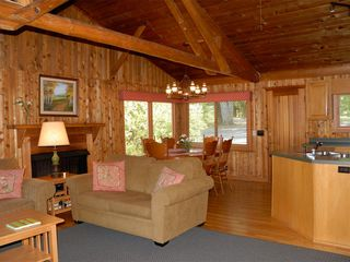 Huddleston estate photo - The open beam Cedar Cabin is perfectly natural