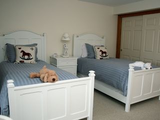 Barnstable house photo - Twin-bedded guest room