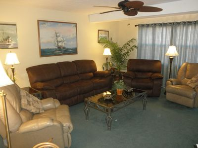 5 recliner seating-2 sofa, 3 chairs