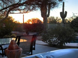 Scottsdale North house photo - Sunrise from the hot tub!