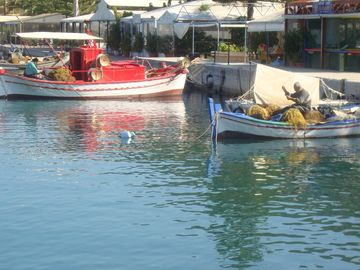The picturesque fishing port of Sami