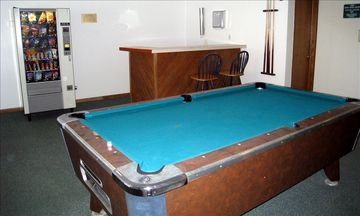 pool table in newly renovated game room