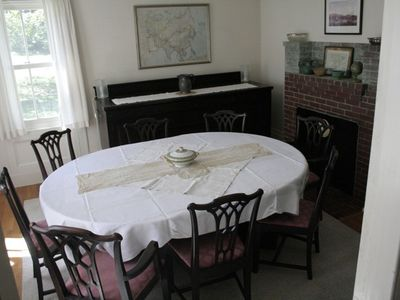 Dining room (table can extend and chairs are available to seat up to ten)