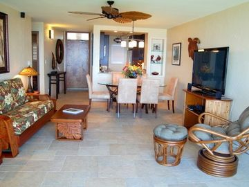Kihei condo rental - Living room area.