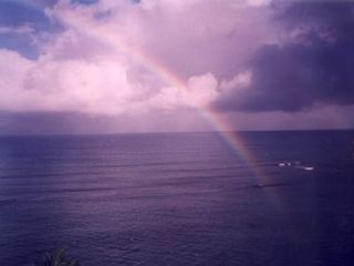 Kahana condo photo - One of many rainbows you'll view from your lanai