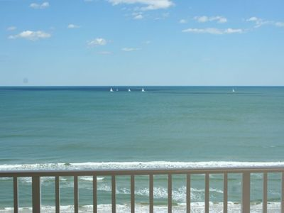 View from Large Oceanfront Balcony
