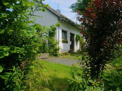 Cosy semi-detached house near Winterberg with fireplace, terrace and garden