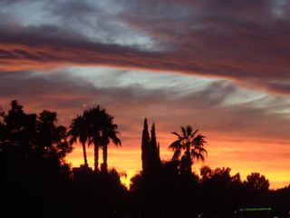 Desert sunset view from backyard - Gilbert house vacation rental photo