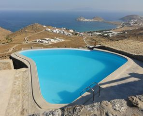 Mykonos villa photo - Infinity pool and majestic view