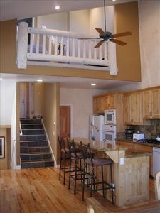 Kitchen and loft area