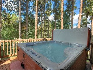 Breckenridge townhome photo - Private Outdoor Hot Tub on the Back Deck