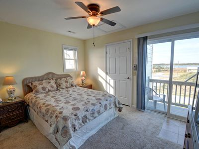 Queen Master Suite Second Floor with Elevator access and Private Deck