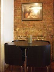Brooklyn townhome photo - chic dining table seats four